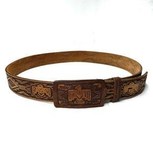 Southwest Leather Belt